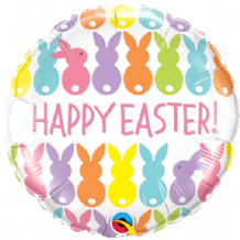 "Easter Bunnies Line-Up Foil Balloon (18"") 1pc"